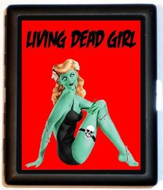 Psychobilly Zombie Pin Up Drawing | Zombie Pinup Girl Living Dead Girl Pin up Psychobilly Rockabilly Goth ...