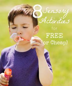 Free Sensory Activities that will help any child, especially those with sensory processing disorder and autism.