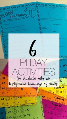 Pi Day Activities without teaching circles. Activities to teach young students about pi without having to teach circles. Secondary and Elementary students will love these hand on Pi Day activities. Upper Elementary, Elementary Math, Math Activities, Steam Activities, Math Resources, Primary Maths, Secondary Math, Math Classroom, Classroom Ideas