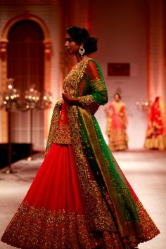 #IndianWedding Gorgeous Bridal Ensemble by Preeti S. Kapoor https://www.facebook.com/pages/Preeti-S-Kapoor-Designs/209460265782112?sk=timeline at Aamby Valley India Bridal Week 2013
