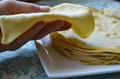 Simple Paleo Tortillas- arrowroot powder and coconut flour