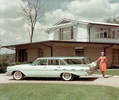 1959 Pontiac Bonneville Safari Wagon.  The chariot of choice for mid-century suburbia.