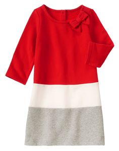 Colorblock Fleece Dress at Gymboree & other holiday party dresses for girls
