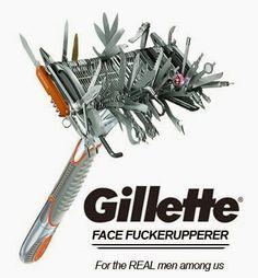 Funny Stuffs: Gillette FaceFuckerupperer