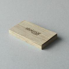 wood business card | drewniane wizytówka