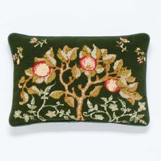 'Apple Tree' is a beautifully old-fashioned design adapted from an artwork in the collections of the Victoria and Albert Museum, London. 🌳🍎🍏 Art Nouveau Flowers, Tapestry Kits, Textiles Techniques, Needlepoint Kits, Victoria And Albert Museum, Design Museum, Felt Art, William Morris, Cotton Canvas