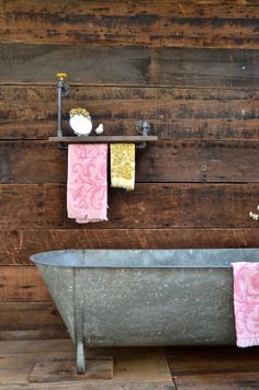 Vintage Galvanized Bathtub