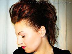 Julia Graf: Fauxhawk hair! Ultimate Rocker hair tutorial