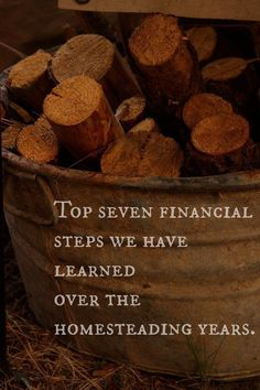 Top Seven Financial Steps We Have Learned Over The Homesteading Years