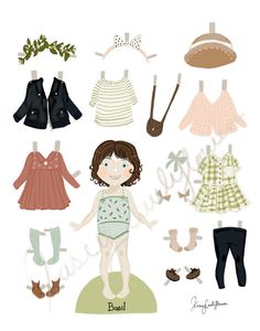 Cauliflower Crew Paper Doll Collection Basil by KaseyCauliflower