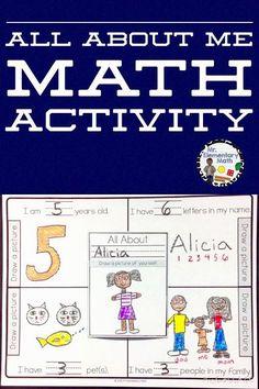 Kindergarten All About Me Math Activity