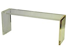 Buy Lucite Waterfall Console - Console Tables - Tables - Furniture - Dering Hall