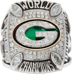2010 Green Bay Packers Super Bowl XLV Championship Player's  Ring.