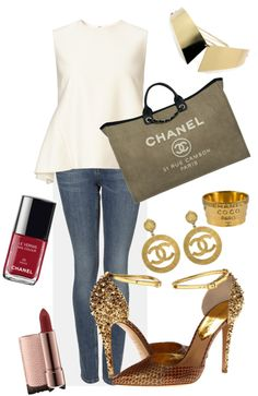 """A touch of Gold"" by douxdesir on Polyvore"