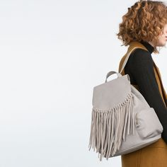 FRINGED FOLDOVER FLAP BACKPACK-FLORA AND FAUNA-WOMAN | ZARA United States