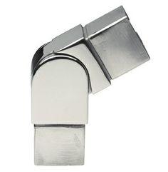 Coude orientable 25°-85° pour tube carré 40x40mm en inox 316l, finition poli miroir ou brossé.                                                                                                                                                                                 Plus