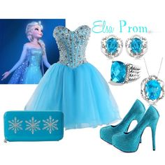 """""""Elsa Prom Dress"""" by constancesimmo on Polyvore"""