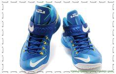tenis de basket Royal Azul/Fluorescent Verde Nike Zoom Soldier 8 653642-417