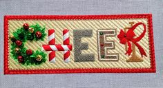 Cheer needlepoint by Raymond Crawford stitch by Aggie
