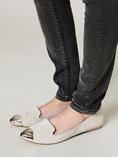 metallic cap toe : Luna Loafer