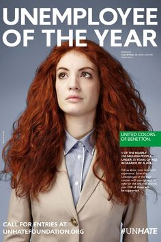 Benetton Unemployee Of The Year Campaign - Youth Unemployment
