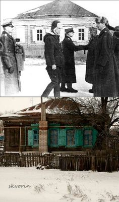 Then & Now Paulus at Gumrak H.Q. just after his surrender February 1943