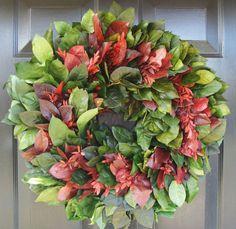 Christmas Wreath Dried Floral Christmas Wreath by ElegantWreath