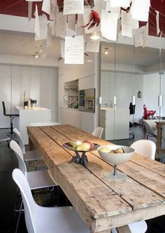 [ Trendy Kitchen Design Modern Rustic Dining Rooms Ideas Mealtime may be the social time whenever yo Interior, Wood Dining Table, Dining Table, Home Decor, Wooden Dining Tables, Dining Table Chairs, Dining Room Table, Modern Kitchen Design, Rustic Dining Room