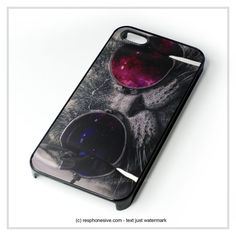 Cat Wear Glasses iPhone 4 4S 5 5S 5C 6 6 Plus , iPod 4 5 , Samsung Galaxy S3 S4 S5 Note 3 Note 4 , HTC One X M7 M8 Case