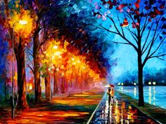 paisaje pintado en oleo