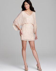 Alice + Olivia Tunic Dress - Embellished Silk