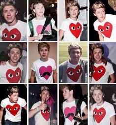 Niall Horan With A Valentines Day Theme Shirt Happy My Heart