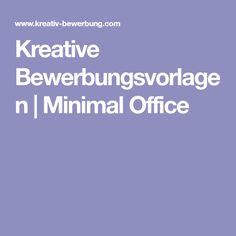 Kreative Bewerbungsvorlagen   Minimal Office