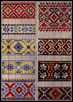 {Crochet} interesting possibilities for cross stitch borders or maybe even quilt patterns Cross Stitch Borders, Cross Stitch Charts, Cross Stitch Designs, Cross Stitching, Cross Stitch Embroidery, Embroidery Patterns, Cross Stitch Patterns, Knitting Charts, Knitting Stitches