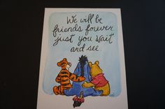 Classic Winnie the Pooh,Tigger and Eeyore, hand painted flat canvas 8x10 friends forever by MoonbeamsBearDreams on Etsy