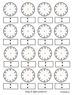 teaching time 1st grade | ... time and have students manipulate their clocks to show that time and