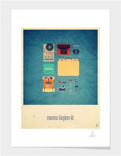 "Curioos.com | ""Moonrise Kingdom Kit"" by Alizée Lafon Limited Edition  - Gallery Quality Art Print from 19€ ($25)"