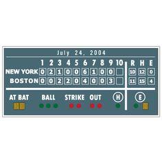 Fenway Scoreboard Custom Wall Graphic