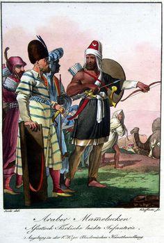 Arab Mameluke and turkish light infantry. Characteristic representation of the principal European military men or Augsburger Bilder 1802-1810: Ottoman.    or  Augsburger Bilder    1802-1810    Ottoman