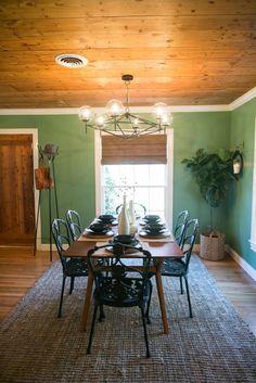 The Baby Blue House   Season 3   Fixer Upper   Magnolia Market   Dining Room   #Shiplap   Chip & Joanna Gaines   Waco, TX