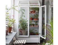 Kekkilä Vihervitriini 2-ovinen alalaatikolla Pieni kasvihuone vetolaatikolla! Vihervitriini on kasvihuone pienempään tilaan. Terassille, parvekkeelle tai pienemmälle pihalle! Säätöjalkojen ansiosta asennus onnistuu tukevasti myös vinoille lattiapinnoille. Ilmanvaihto on varmistettu lämpötilaan reagoivan kaasujousen avulla, joka tarvittaessa avaa vitriinin katon automaattisesti.  Maksuton kotiinkuljetus!