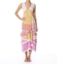 Odd Molly Crumple Long Wrap Dress Available at Wear To Buy www.weartobuy.net