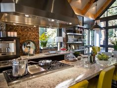 HGTV Dream Home 2014 : Kitchen Pictures Love the look, restaurant kitchen.  Need to make it roomier.