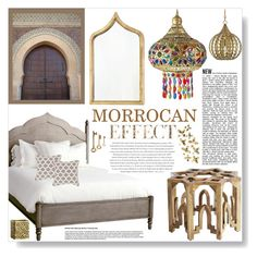 """MORROCAN"" by purplerose27 ❤ liked on Polyvore featuring interior, interiors, interior design, home, home decor, interior decorating, Redford House, Envi, Worlds Away and Surya"