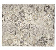 Talia Printed Rug - Gray | Pottery Barn