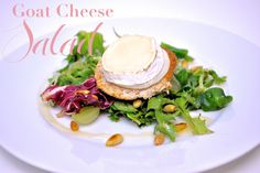 "Delicious goat cheese salad by ""Les Deux Magazine"" Goat Cheese Salad, Food Inspiration, Goats, Yummy Food, Magazine, Breakfast, Recipes, Morning Coffee, Delicious Food"