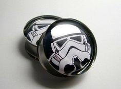 Stormtrooper star wars Plugs 1 Pair 2 plugs  12g 10g por SuperPlugs, $19.95