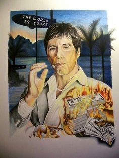 Angel Devil Tattoo, Angel And Devil, Al Pacino, Bronx Movie, Gangster Movies, Hello To Myself, Pulp Fiction, Say Hello, Mafia
