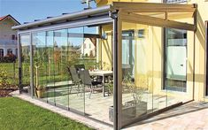 all glass covered patio design