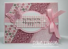 """Nice way to use up some """"snippets"""" from Dawn Easton that she posted on Splitcoaststampers"""